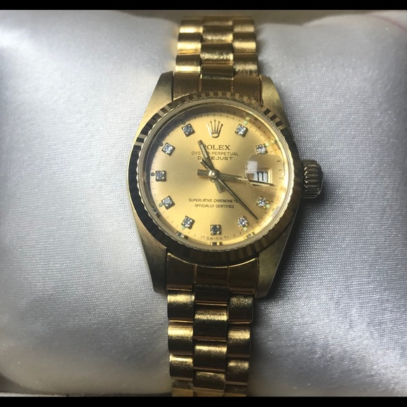 18k Gold Rolex Oyster Perpetual Datejust Watch